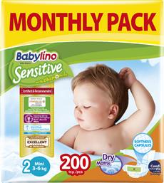 Babylino Sensitive With Chamomile No 2 (3-6Kg) 200τμχ από το Pharm24