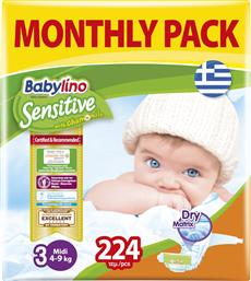 Babylino Sensitive With Chamomile No 3 (4-9Kg) 224τμχ από το Pharm24