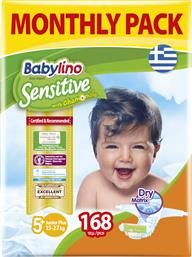 Babylino Sensitive With Chamomile No 5+ (13-27kg) 168τμχ από το Pharm24