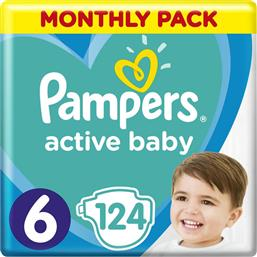 Pampers Active Baby No 6 (13-18kg) Monthly Box 124τμχ από το Pharm24