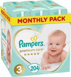 Pampers Premium Care No 3 (6-10 Kg) Monthly Box 204τμχ από το Pharm24